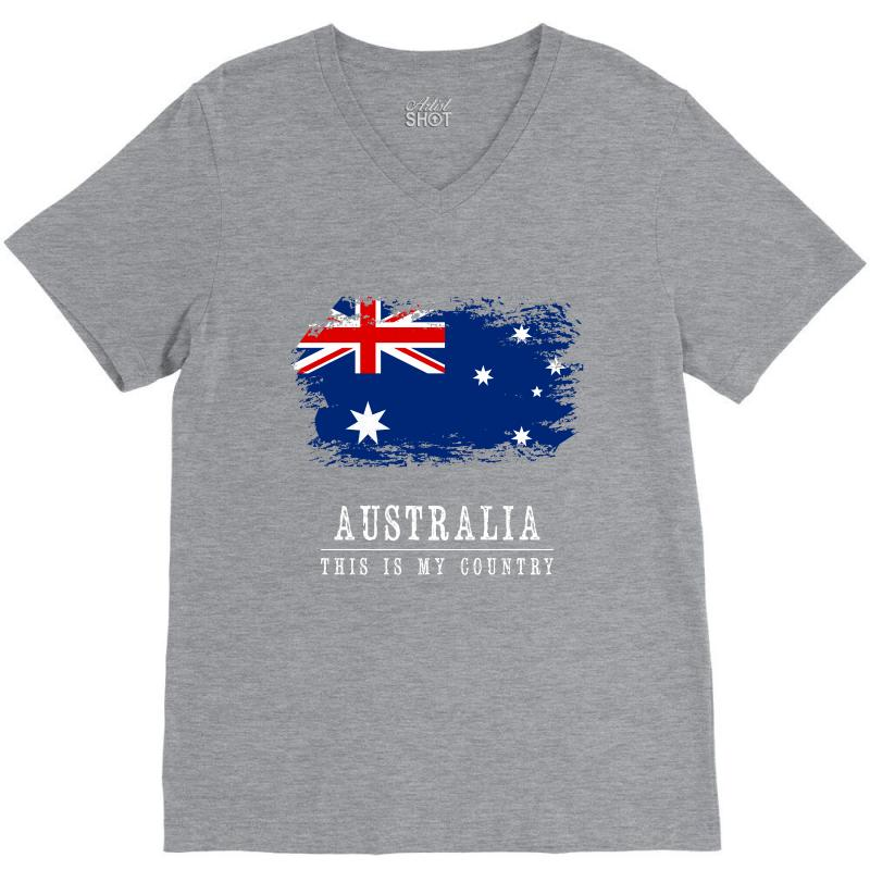 This Is My Country - Australia V-neck Tee | Artistshot