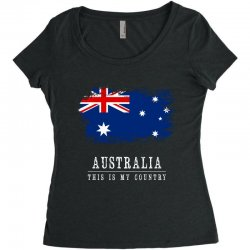 This is my country - Australia Women's Triblend Scoop T-shirt | Artistshot