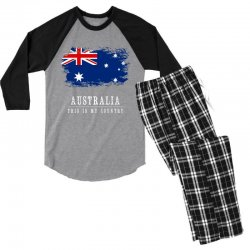 This is my country - Australia Men's 3/4 Sleeve Pajama Set | Artistshot