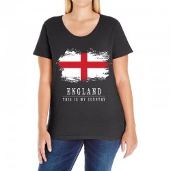 This is my country - England Ladies Curvy T-Shirt | Artistshot
