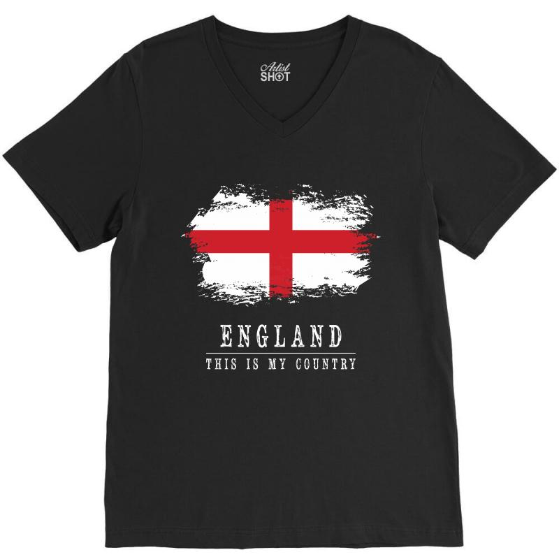 This Is My Country - England V-neck Tee | Artistshot