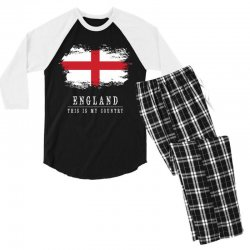 This is my country - England Men's 3/4 Sleeve Pajama Set | Artistshot