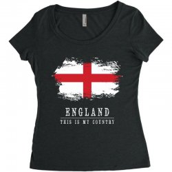 This is my country - England Women's Triblend Scoop T-shirt | Artistshot