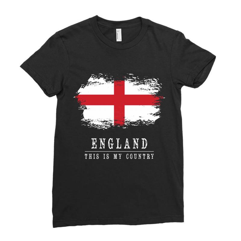 This Is My Country - England Ladies Fitted T-shirt | Artistshot