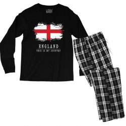This is my country - England Men's Long Sleeve Pajama Set | Artistshot