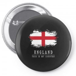 This is my country - England Pin-back button   Artistshot