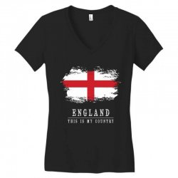 This is my country - England Women's V-Neck T-Shirt | Artistshot