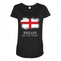 This is my country - England Maternity Scoop Neck T-shirt   Artistshot
