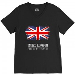 This is my country - United Kingdon V-Neck Tee | Artistshot
