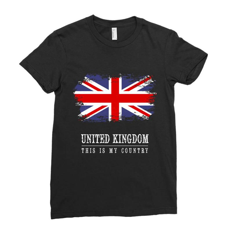This Is My Country - United Kingdon Ladies Fitted T-shirt | Artistshot