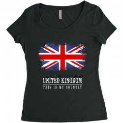 This is my country - United Kingdon Women's Triblend Scoop T-shirt | Artistshot