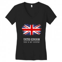 This is my country - United Kingdon Women's V-Neck T-Shirt | Artistshot