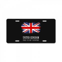 This is my country - United Kingdon License Plate | Artistshot