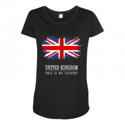 This is my country - United Kingdon Maternity Scoop Neck T-shirt | Artistshot