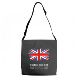 This is my country - United Kingdon Adjustable Strap Totes | Artistshot