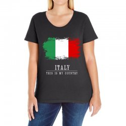 This is my country - Italy Ladies Curvy T-Shirt | Artistshot