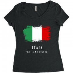 This is my country - Italy Women's Triblend Scoop T-shirt | Artistshot