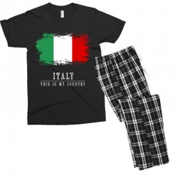 This is my country - Italy Men's T-shirt Pajama Set | Artistshot