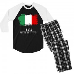 This is my country - Italy Men's 3/4 Sleeve Pajama Set | Artistshot