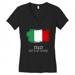 This is my country - Italy Women's V-Neck T-Shirt | Artistshot