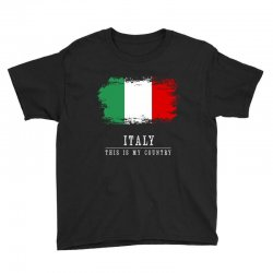 This is my country - Italy Youth Tee | Artistshot