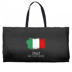 This is my country - Italy Weekender Totes | Artistshot