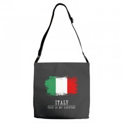 This is my country - Italy Adjustable Strap Totes | Artistshot