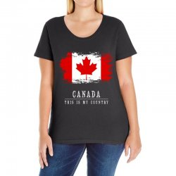 This is my country - Canada Ladies Curvy T-Shirt | Artistshot