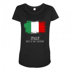 This is my country - Italy Maternity Scoop Neck T-shirt | Artistshot