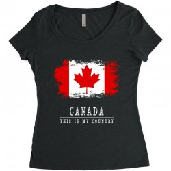 This is my country - Canada Women's Triblend Scoop T-shirt | Artistshot