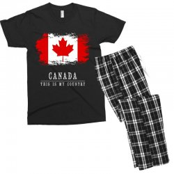 This is my country - Canada Men's T-shirt Pajama Set | Artistshot