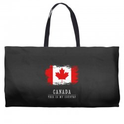 This is my country - Canada Weekender Totes | Artistshot