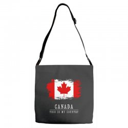 This is my country - Canada Adjustable Strap Totes | Artistshot