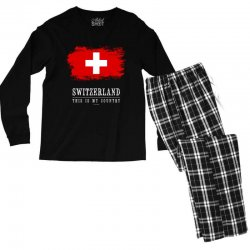 This is my country - Switzerland Men's Long Sleeve Pajama Set | Artistshot