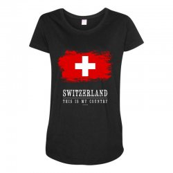This is my country - Switzerland Maternity Scoop Neck T-shirt | Artistshot