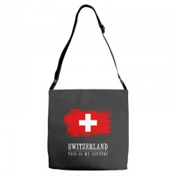 This is my country - Switzerland Adjustable Strap Totes | Artistshot