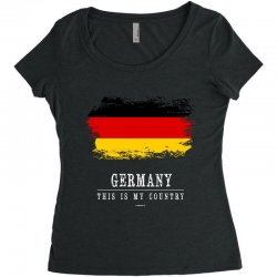 This is my country - Germany Women's Triblend Scoop T-shirt | Artistshot