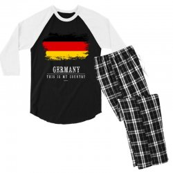This is my country - Germany Men's 3/4 Sleeve Pajama Set | Artistshot