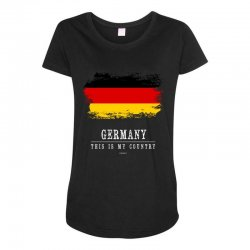This is my country - Germany Maternity Scoop Neck T-shirt | Artistshot
