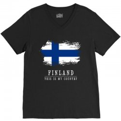 This is my country - Finland V-Neck Tee | Artistshot