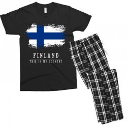 This is my country - Finland Men's T-shirt Pajama Set | Artistshot
