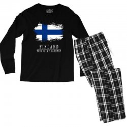 This is my country - Finland Men's Long Sleeve Pajama Set | Artistshot