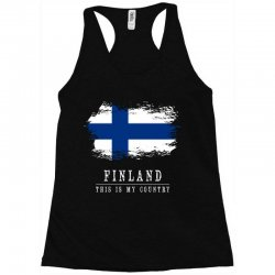This is my country - Finland Racerback Tank | Artistshot