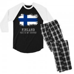 This is my country - Finland Men's 3/4 Sleeve Pajama Set | Artistshot