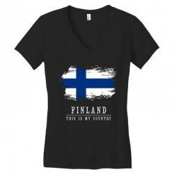 This is my country - Finland Women's V-Neck T-Shirt | Artistshot