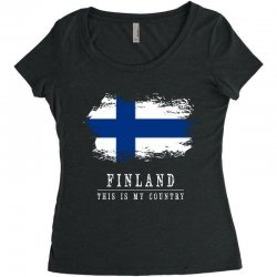 This is my country - Finland Women's Triblend Scoop T-shirt | Artistshot