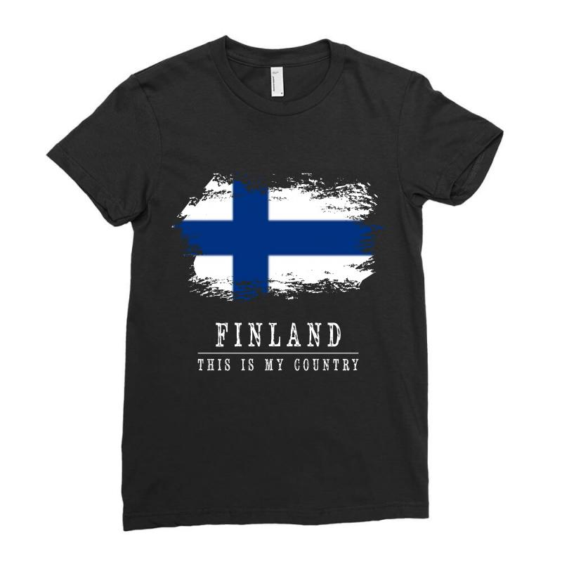 This Is My Country - Finland Ladies Fitted T-shirt | Artistshot