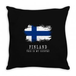This is my country - Finland Throw Pillow | Artistshot