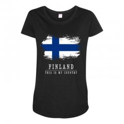 This is my country - Finland Maternity Scoop Neck T-shirt | Artistshot