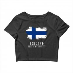 This is my country - Finland Crop Top | Artistshot